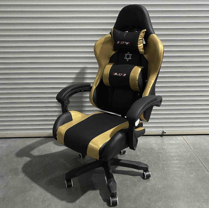 Игровое кресло Glory золотое (с подставкой для ног)