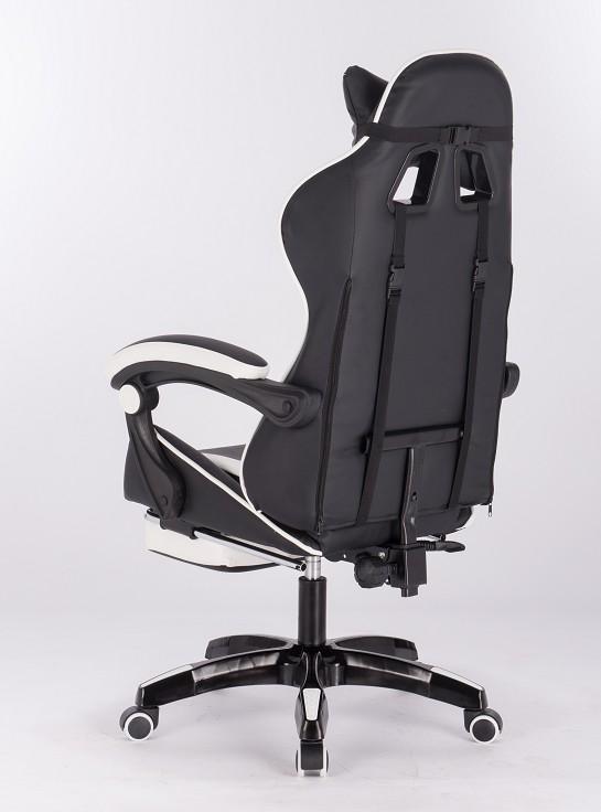Геймерское кресло Domtwo Белое (с подставкой для ног)